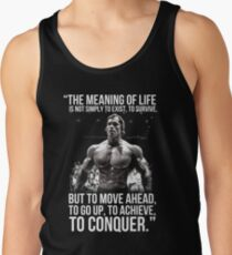 Arnold Schwarzenegger Arnie Conquer Quote Men's Tank Top