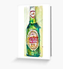 Stella Artois, Premium Beer Greeting Card
