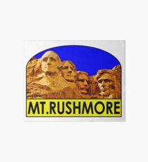 MOUNT RUSHMORE SOUTH DAKOTA NATIONAL MEMORIAL VINTAGE BLACK HILLS PARK Art Board