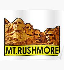 MOUNT RUSHMORE SOUTH DAKOTA NATIONAL MEMORIAL VINTAGE BLACK HILLS PARK 2 Poster