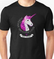 einhorn forever love pink glitzern fee wunsch romantisch Unisex T-Shirt