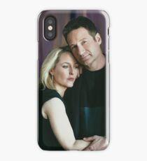 Gillian Anderson and David Duchovny oil color painting  iPhone Case/Skin
