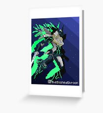 Zone of the Enders - Pixelart Jehuty Greeting Card