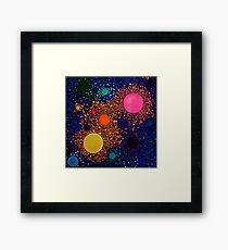 Genesis, abstract art Framed Print