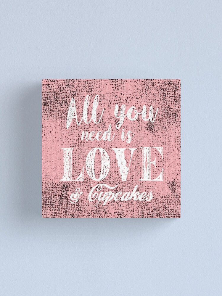 Alternate view of All you need is love & cupcakes Canvas Print