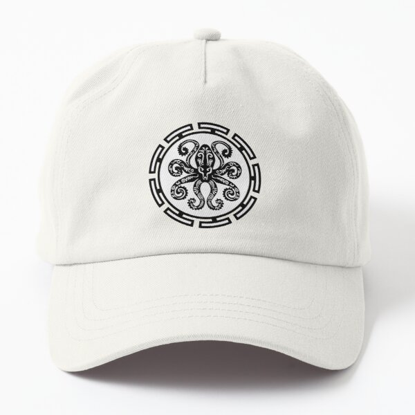 Octopus Black and White Tribal Design Dad Hat
