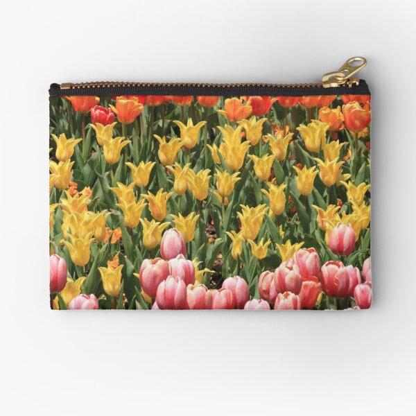 Tulip Garden Zipper Pouch