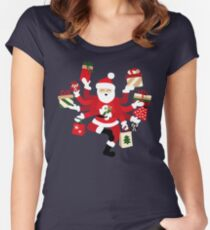 Dancing Shiva Claus - Spruce Forest Women's Fitted Scoop T-Shirt