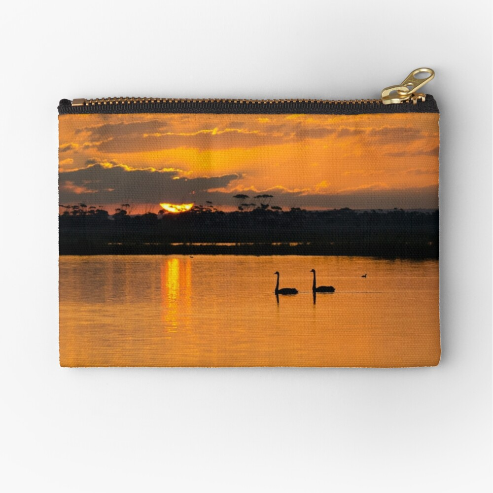 Sunset over Lake Borrie Zipper Pouch