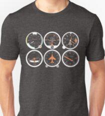 Grundlegende sechs Fluginstrumente Unisex T-Shirt