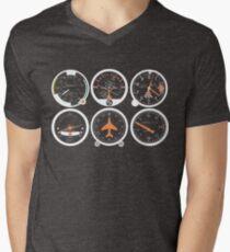 Basic Six Flight Instruments Men's V-Neck T-Shirt
