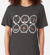 Camiseta ajustada Instrumentos de vuelo básicos seis