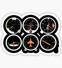 Basic Six Flight Instruments Sticker