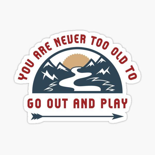Abenteuer raus und spielen Sticker