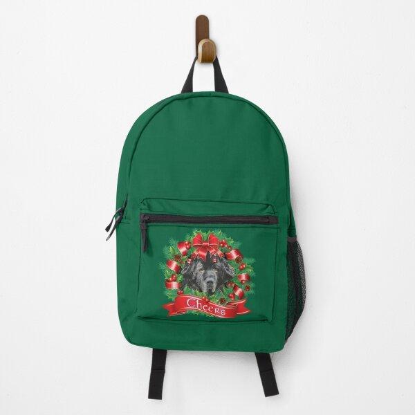 Newfoundland Dog Holiday Christmas Wreath Backpack