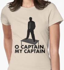 O Captain, my Captain Women's Fitted T-Shirt