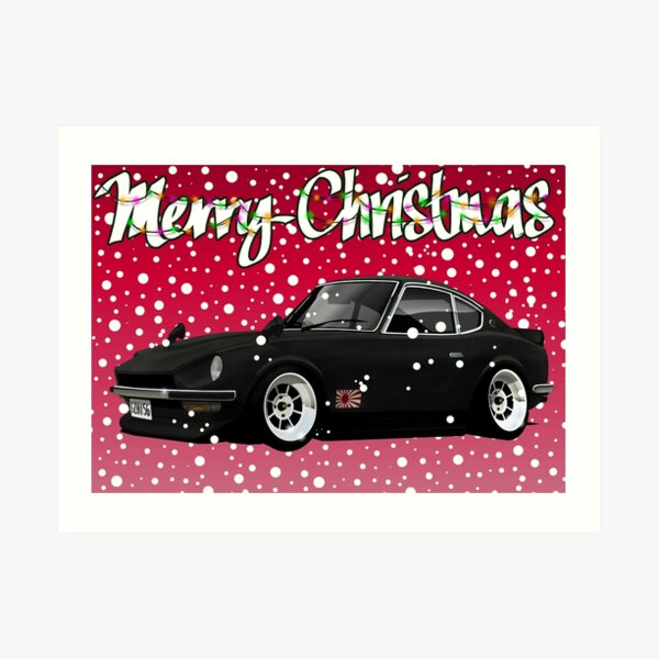 Retro Christmas Card Series 240Z Art Print