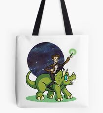 Doctor on a Dinosaur Tote Bag