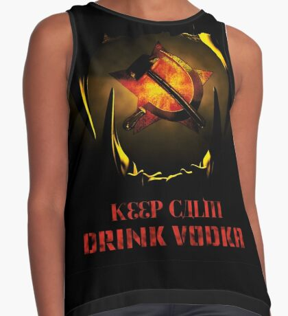 KEEP CALM DRINK VODKA Contrast Tank