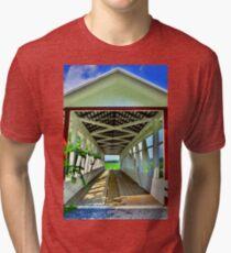 Osterburg Bowser Covered Bridge Tri-blend T-Shirt
