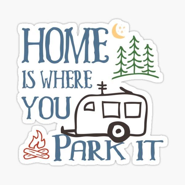 RV Camping Home Sticker