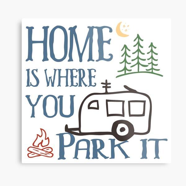 RV Camping Home Metal Print