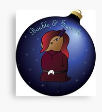 Bauble and Squeak - Christmas Goth Mouse Canvas Print