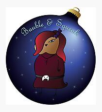 Bauble and Squeak - Christmas Goth Mouse Photographic Print