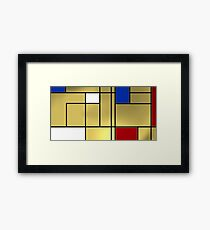 Tribute composition to Piet Mondrian Framed Print