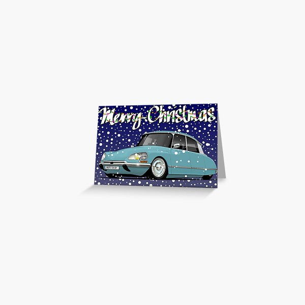 Retro Christmas Card Series Citroen DS Greeting Card
