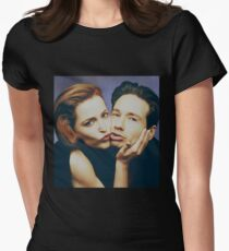 The Schmoopies - Gillian and David painting Womens Fitted T-Shirt