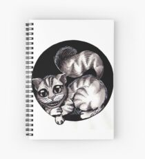 Gato Blanco Y Negro De Lneas Dibujo Cuadernos de espiral  Redbubble