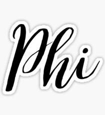 phi Sticker