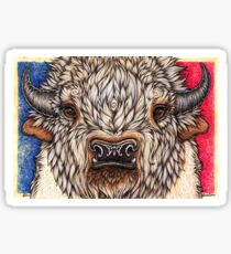 White Buffalo Calf Sticker