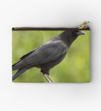 Crow on the Fence Studio Pouch