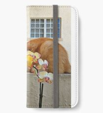 Cat Behind the Flowers iPhone Wallet/Case/Skin