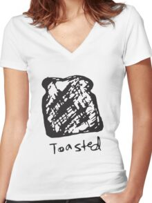 Toasted Women's Fitted V-Neck T-Shirt