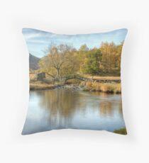 Slater's Bridge, Little Langdale Throw Pillow