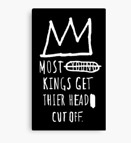 """Basquiat """"Young Kings"""" Quote Canvas Print"""