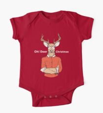 Oh! Deer Christmas One Piece - Short Sleeve
