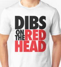 Dibs on the Redhead (BIG Black/Red) T-Shirt
