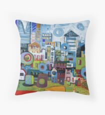 Home In The City Throw Pillow