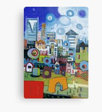 Home In The City Metal Print