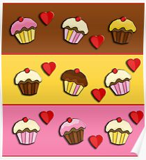 Love cupcakes  Poster