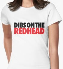 Dibs on the Redhead (Stack Black/Red) T-Shirt