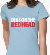 Dibs on the Redhead (Stack White/Red) T-Shirt