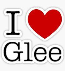 I Love Glee Sticker