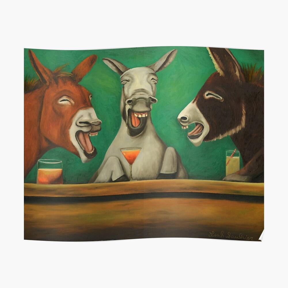 Lachende Esel Poster