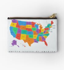 United States Map Studio Pouch
