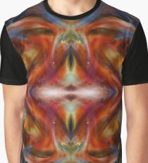 Red Diamond Psychedelic Abstract  Graphic T-Shirt